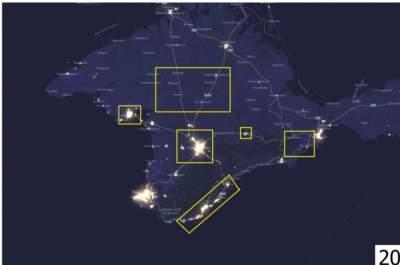 Спутниковая съемка подтвердила спад экономики Крыма