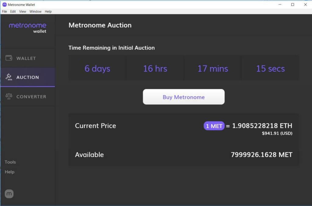 Как купить Metronome (MET) с помощью кошелька. Пошаговая инструкция