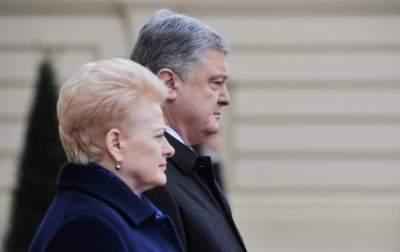 Порошенко рассказал о сотрудничестве с Литвой